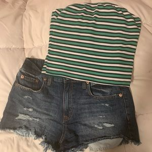 Tops - Striped Tube Top
